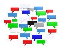 Palavras sociais da bolha do bate-papo dos meios Imagem de Stock