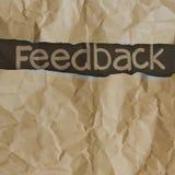 Palavras tiradas mão do feedback Fotos de Stock