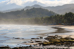 Palawan beach, by the Undergorund River, Philippines Royalty Free Stock Photography