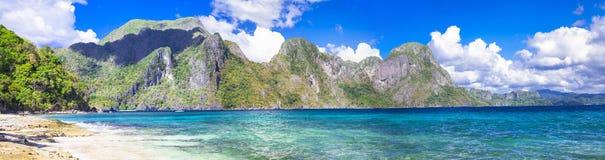 Palawan (El NIdo) panorama. Incredible islands of Philippines. Palawan (El NIdo) panorama royalty free stock photography