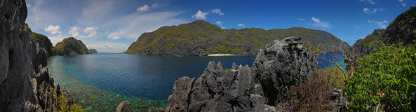 Palawan island - panoramatic Stock Image