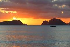 Palawan island sunset Royalty Free Stock Photography