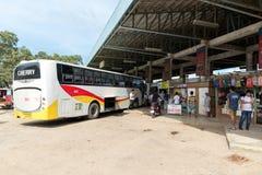 PALAWAN, PHILIPPINEN - 23. JANUAR 2018: Puerto- PrincesaBusbahnhof in Palawan, Philippinen stockfotos