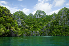 Rocky Granite Island Palawan Philippines. Picture of a rocky island in Palawan Philippines Royalty Free Stock Photo