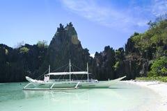 palawan philippines för fartygel-nido tur Arkivbild