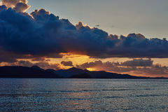 Palawan Philippines Seascapes Sunset Royalty Free Stock Image