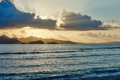 Palawan Philippines Seascapes Sunset Royalty Free Stock Photography