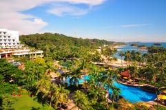 Palawan-Strand in Sentosa-Insel, Singapur stockfoto
