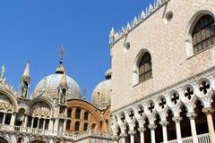 Palazza Ducale et basilique de repère de saint, Venise image libre de droits