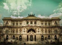 Palazzaccio - de Zaal van Rechtvaardigheid in Rome Royalty-vrije Stock Foto's