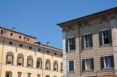 Palazzi storici. Ferrara. L'Emilia Romagna. L'Italia Fotografia Stock Libera da Diritti