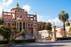 Palazzina cinese in Palermo, Sicily. The Chinese building of Palermo was built in 1799 commissioned by Ferdinand IV of Bourbon. The park and the palace became Stock Images