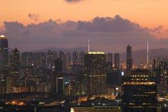 Palazzina di appartamenti dell'edilizia popolare di Hong Kong Fotografia Stock