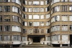 Palazzina di appartamenti di art deco Fotografie Stock Libere da Diritti