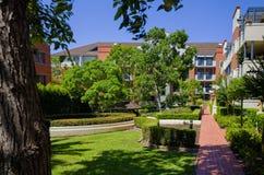 Palazzina di appartamenti, soleggiato, verde, Sydney, Australia Fotografia Stock Libera da Diritti