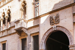 Palazzo加州` d在corso Palladio的` oro门面  库存图片