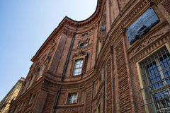 Palazzo卡里尼亚诺,都灵,意大利细节  免版税库存图片