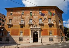 Palazzo多利亚Spinola (1543,联合国科教文组织站点)。热那亚,意大利 免版税库存图片
