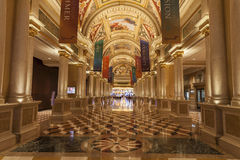 Palazzo旅馆内部在拉斯维加斯, 2013年8月02日的NV 免版税图库摄影
