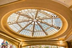 Palazzo旅馆和赌博娱乐场停车处大厅天窗 图库摄影