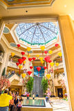 Palazzo旅馆和赌博娱乐场大厅天窗 免版税库存图片