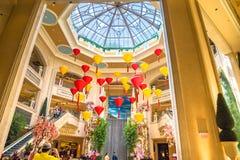 Palazzo旅馆和赌博娱乐场大厅天窗 库存照片