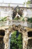 Palazzo比亚恩科庭院,热那亚,意大利 图库摄影