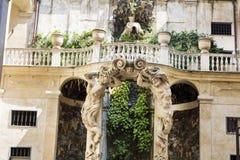 Palazzo比亚恩科庭院,热那亚,意大利 库存图片