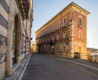 Palazzo西帕里, Alvito, Ciociaria,意大利 免版税库存照片