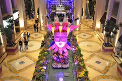 Palazzo,紫色,作用大厅,传统,室内设计 免版税库存图片