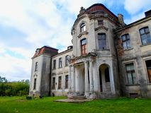Palazzo abbandonato in Bielorussia Fotografie Stock Libere da Diritti