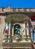 Palazzo Accursio im Bologna, Emilia-Romagna Italien Stockfotos