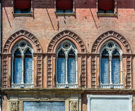 Palazzo Accursio im Bologna, Emilia-Romagna Italien Lizenzfreies Stockbild