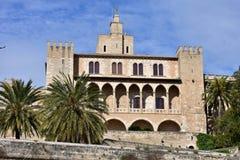 Palazzo Almudaina, Palma de Mallorca, Spagna Immagine Stock Libera da Diritti