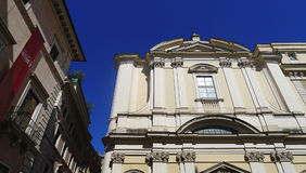 Palazzo Altemps och kyrka av Sant'Apollinare alle Terme, Rome Arkivfoton