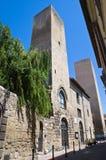 Palazzo anteriore. Tarquinia. Il Lazio. L'Italia. Fotografia Stock
