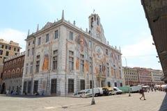 宫殿Palazzo在波尔图Antico,热那亚附近的圣乔治 库存图片