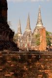 Palazzo antico famoso Wat Phra Si Sanphe di Ayutthaya Immagine Stock