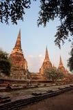 Palazzo antico famoso Wat Phra Si Sanphe di Ayutthaya Fotografie Stock