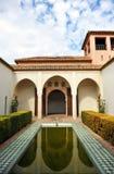 Palazzo arabo del Alcazaba, Malaga, Andalusia, Spagna Immagini Stock Libere da Diritti