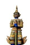 Palazzo Bangkok del guardiano del demone grande su fondo isolato Immagini Stock