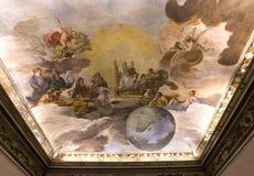 Palazzo Barberini,罗马,意大利内部  免版税库存照片