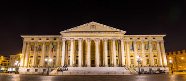 Palazzo Barbieri, a Neoclassical style palace in Verona Stock Photography