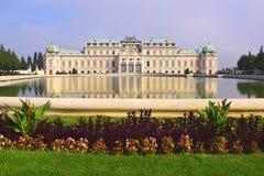 Palazzo Belveder superiore, Vienna, Austria Fotografia Stock Libera da Diritti