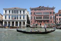 Palazzo Bembo, канал большой, Венеция, Италия Стоковые Фотографии RF