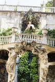 Palazzo Bianco garden , Genoa ,Italy. GENOA,ITALY-22.06.16 : Palazzo Bianco contains the Gallery of the White Palace, one of the greater city art galleries, and Stock Photography
