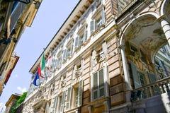 Palazzo Bianco, Genua, Italië royalty-vrije stock afbeelding
