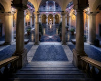 Palazzo Bianco. One of the palazzi in the Via Garibaldi in Genova, Italia. Now a museum Royalty Free Stock Photos