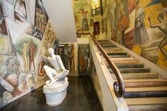 Palazzo BO, μαρμάρινο σκαλοπάτι εισόδων, που γίνεται από τον ιταλικό αρχιτέκτονα Gio Ponti, Στοκ φωτογραφία με δικαίωμα ελεύθερης χρήσης