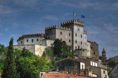 Palazzo Bombardieri,罗西尼亚诺马里蒂莫,托斯卡纳 免版税图库摄影